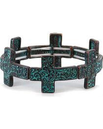 Shyanne® Women's Antiqued Cross Bracelet, , hi-res
