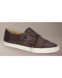 Frye Women's Mindy Monk Sneakers, Dark Brown, hi-res