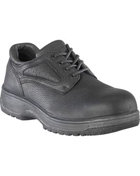 Florsheim Men's Fiesta Oxford Work Shoes - Composite Toe, Black, hi-res