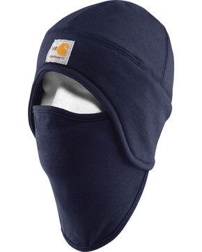 Carhartt Flame Resistant Fleece 2 in 1 Knit Hat, Navy, hi-res
