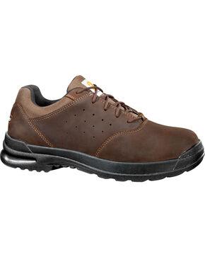 "Carhartt Men's 3"" Brown Oxford Walking Shoes - Round Toe, Dark Brown, hi-res"