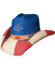 Bullhide Women's The Patriot Straw Hat, , hi-res