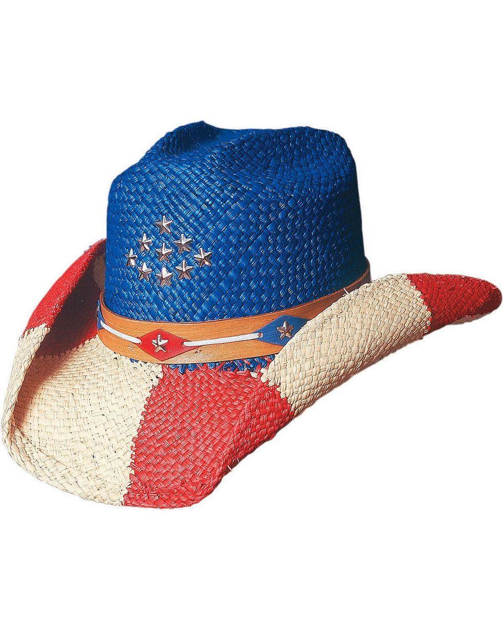 Bullhide Women's The Patriot Straw Hat, Multi, hi-res