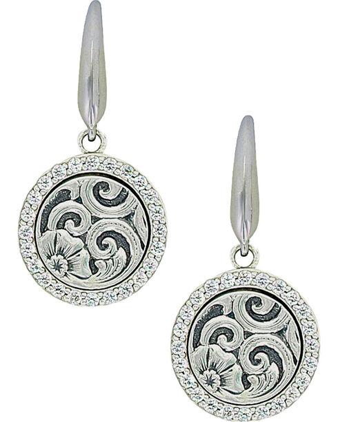 Sterling Lane Women's Daisy Vignette Earrings , Silver, hi-res