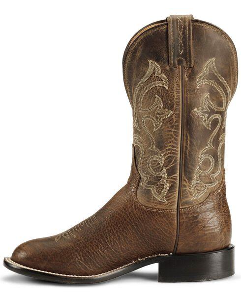 """Tony Lama Men's Americana Conquistador Round Toe 11"""" Western Boots, Cognac, hi-res"""