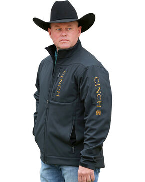 Cinch Men's Carry Concealed Bonded Western Jacket, Black, hi-res