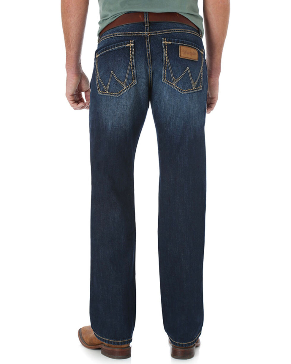 Wrangler Retro Men's Relaxed Straight Leg Jeans, Blue, hi-res