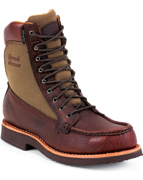 Chippewa Men's Waterproof Upland Work Boots, Brown, hi-res
