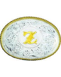 Montana Silversmiths Engraved Initial Z Western Belt Buckle, , hi-res