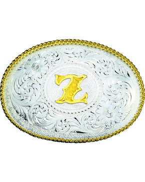 Montana Silversmiths Engraved Initial Z Western Belt Buckle, Multi, hi-res