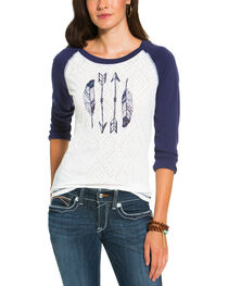 Ariat Women's White Roswell Top , , hi-res