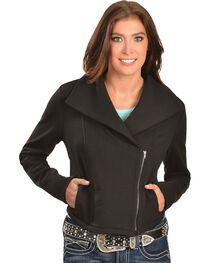 Ariat Briones Moto Black Fleece Jacket, , hi-res