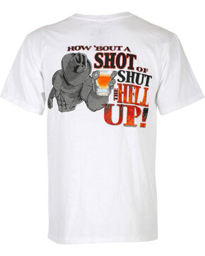 Cowboy Up Men's Graphic Tee, White, hi-res