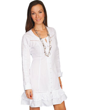 Scully Button Front Dress, White, hi-res