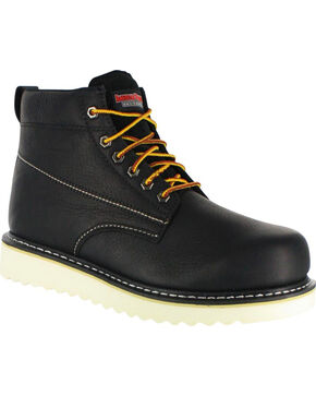 "American Worker® Men's 6"" Lace Up Work Boots, Black, hi-res"