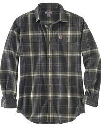 Carhartt Men's Black Hubbard Plaid Shirt , , hi-res
