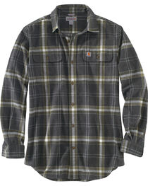 Carhartt Men's Black Hubbard Plaid Shirt - Tall, , hi-res