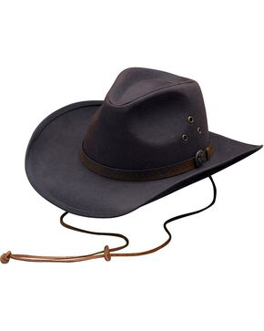 Outback Trading Co. Oilskin Trapper Hat, Brown, hi-res