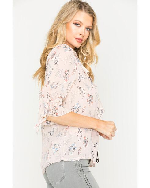 Sage the Label Women's Blush Floral Print Top , Blush, hi-res