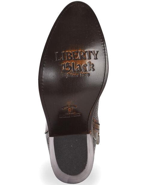Liberty Black Women's Breton Snake Print Booties - Round Toe, Dark Brown, hi-res