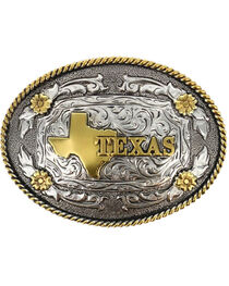 Cody James® Oval Dual-Tone Texas Buckle, , hi-res