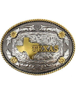 Cody James® Oval Dual-Tone Texas Buckle, Multi, hi-res