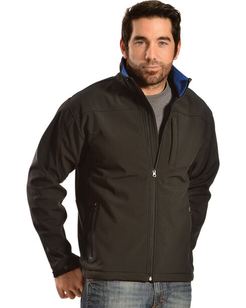 Red Ranch Men's Brown Softshell Western Jacket, Black, hi-res