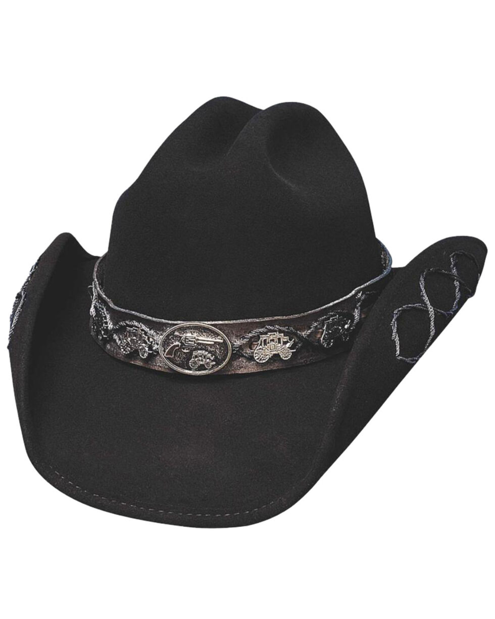 Bullhide Men's Jesse Wool Hat, Black, hi-res