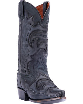 Dan Post Henley Snip Toe Western Boots, Black, hi-res