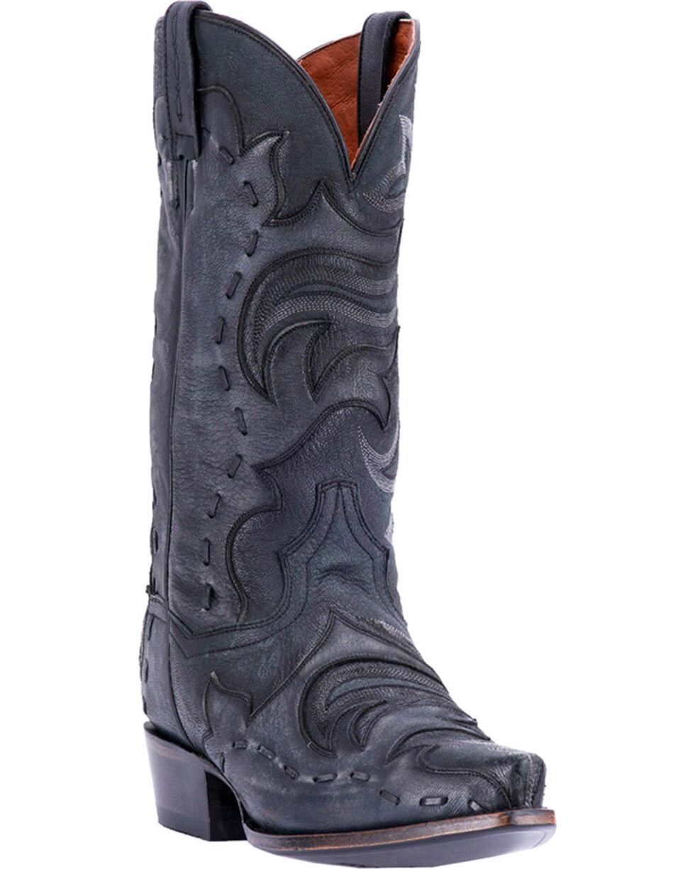 Dan Post Henley Snip Toe Western Boots, Black, hi-res