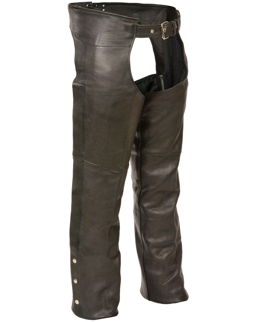 Milwaukee Leather Men's Fully Lined Classic Chaps - 5X, Black, hi-res