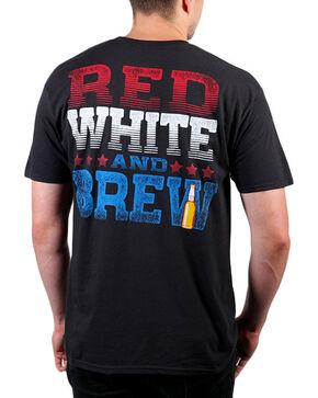 Cody James® Men's Red, White, & Brew Short Sleeve T-Shirt , Black, hi-res