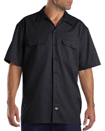 Dickies Men's Black Flex Twill Work Shirt , , hi-res