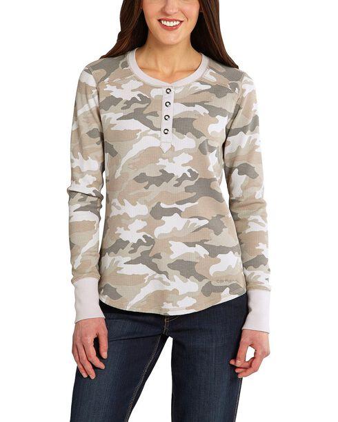 Carhartt Hayward Henley Shirt, Camouflage, hi-res