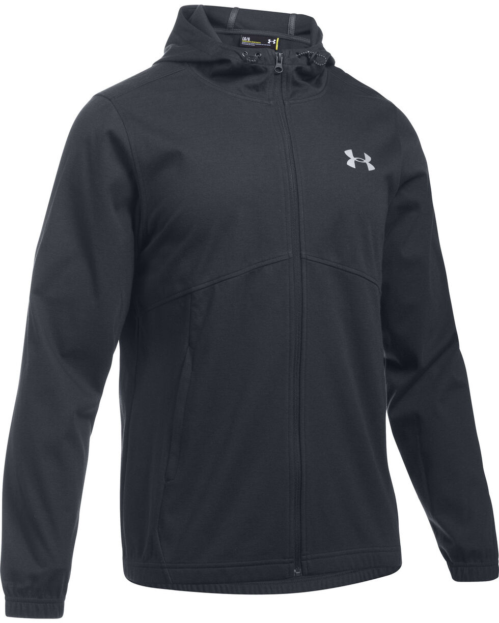 Under Armour Men's Black Storm Spring Swacket Hoodie, , hi-res
