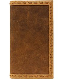 Ariat Men's Whip Stitch Rodeo Check Book Wallet, , hi-res
