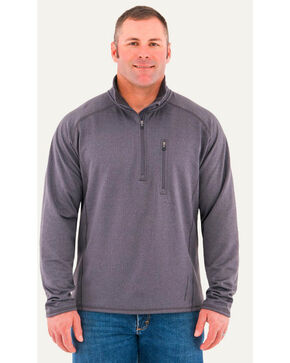 Noble Outfitters Men's Quarter Zip Performance Jacket , Charcoal, hi-res