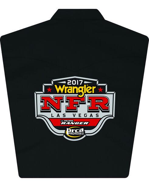 Wrangler Men's Black NFR Logo Long Sleeve Shirt - Tall, Black, hi-res