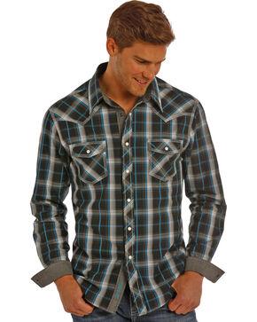 Rock & Roll Cowboy Men's Long Sleeve Snap Button Down Shirt, Black, hi-res