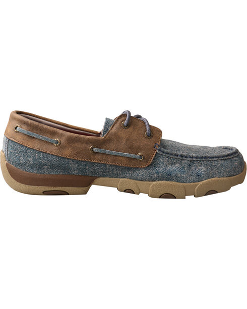 Twisted X Men's Denim Driving Moc Shoes, Multi, hi-res