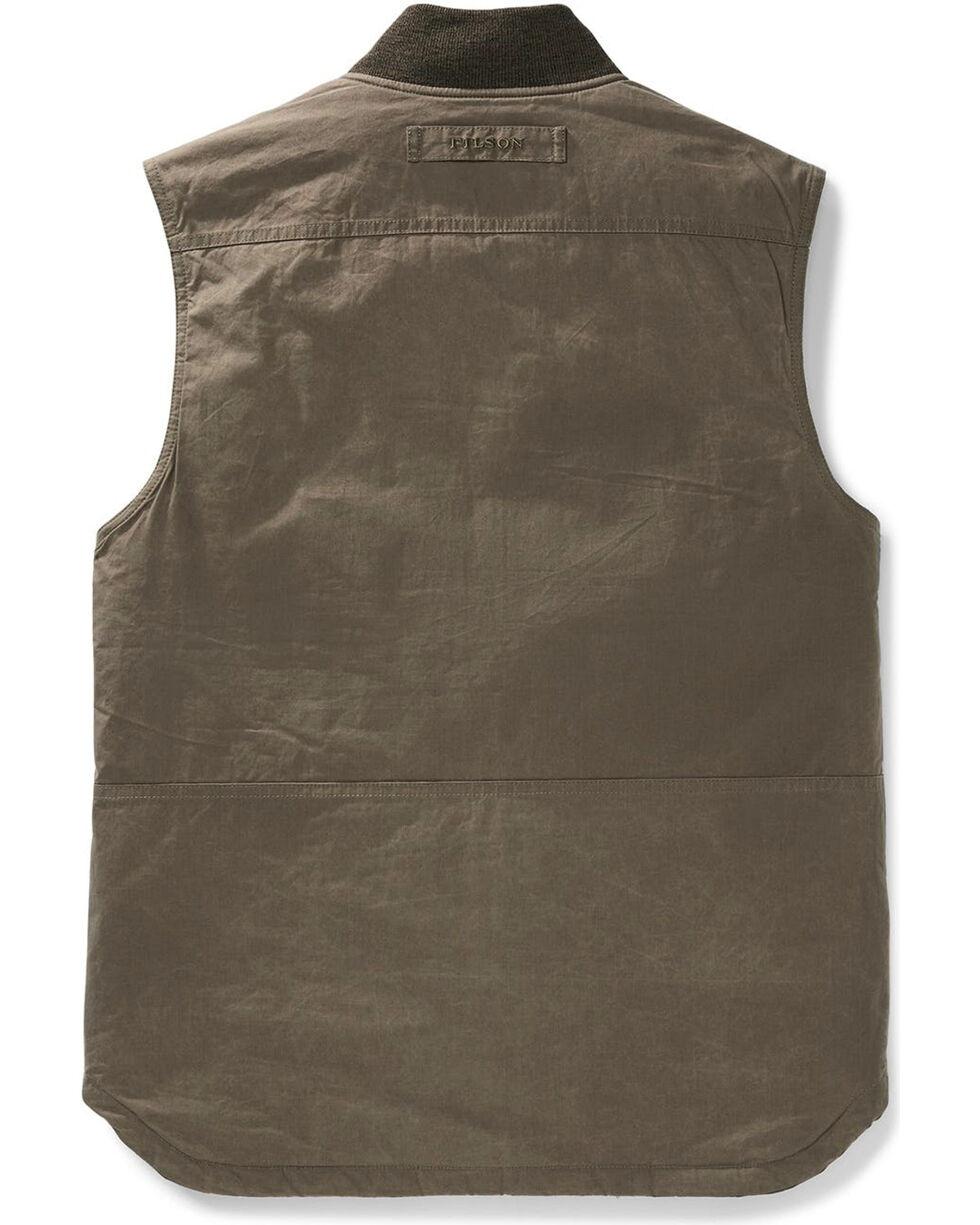 Filson Men's Dark Brown Dry Wax Work Vest , Dark Brown, hi-res