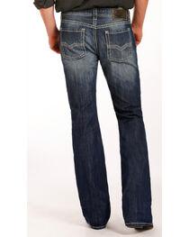 Rock & Roll Cowboy Men's Indigo Pistol Embroidered Jeans - Boot Cut , , hi-res