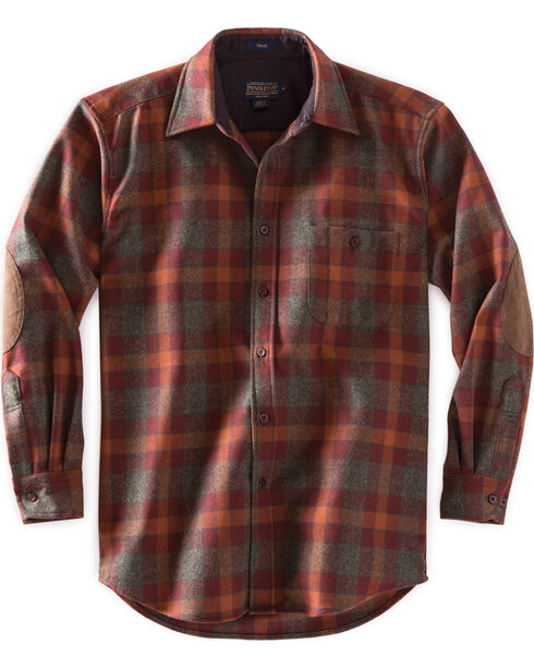 Pendleton Men's Green Mix Check Trail Shirt , Green, hi-res