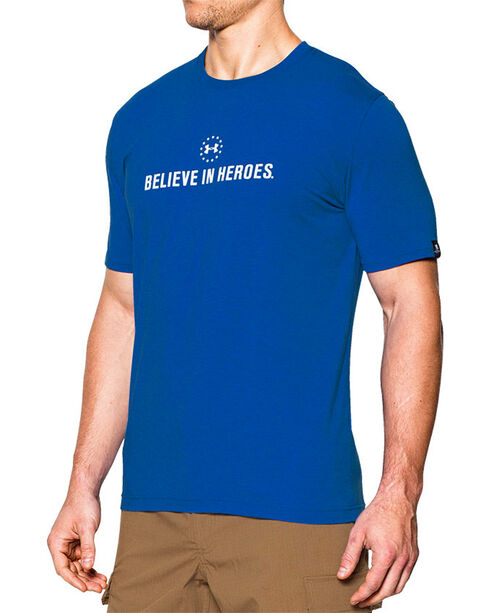 Under Armour Men's Believe in Heroes Short Sleeve Tee, Royal Blue, hi-res
