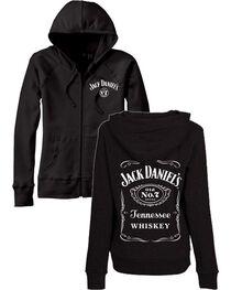 Jack Daniel's Women's Zip Up Label Graphic Hoodie, , hi-res