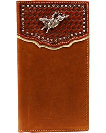 Nocona Basketweave Bull Rider Concho Rodeo Wallet, , hi-res