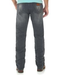 Wrangler Retro Men's Slim Fit Straight Leg Grey Denim Jeans - Long, , hi-res