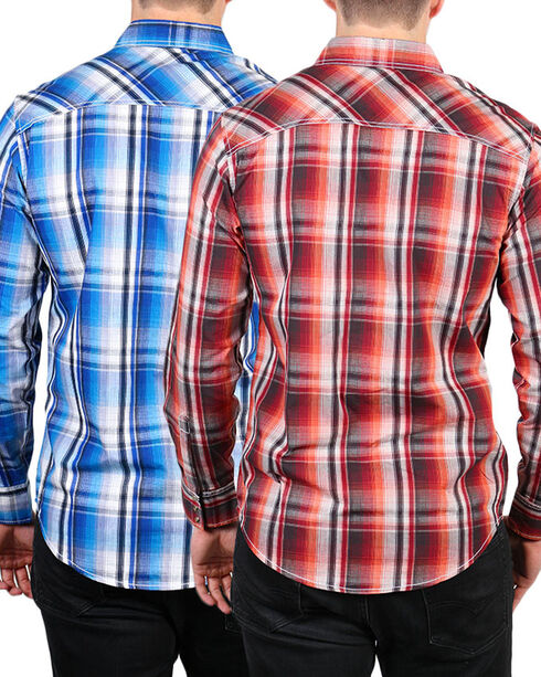 Ely 1878 Men's Accented Plaid Long Sleeve Shirt, Multi, hi-res