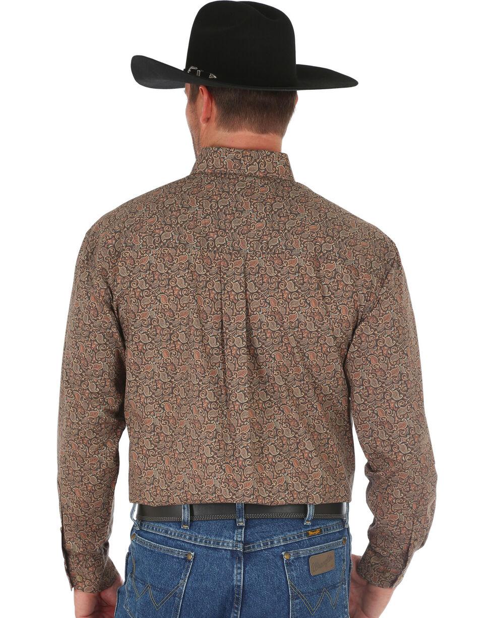Wrangler George Strait Men's Tan Floral Print Shirt , Tan, hi-res