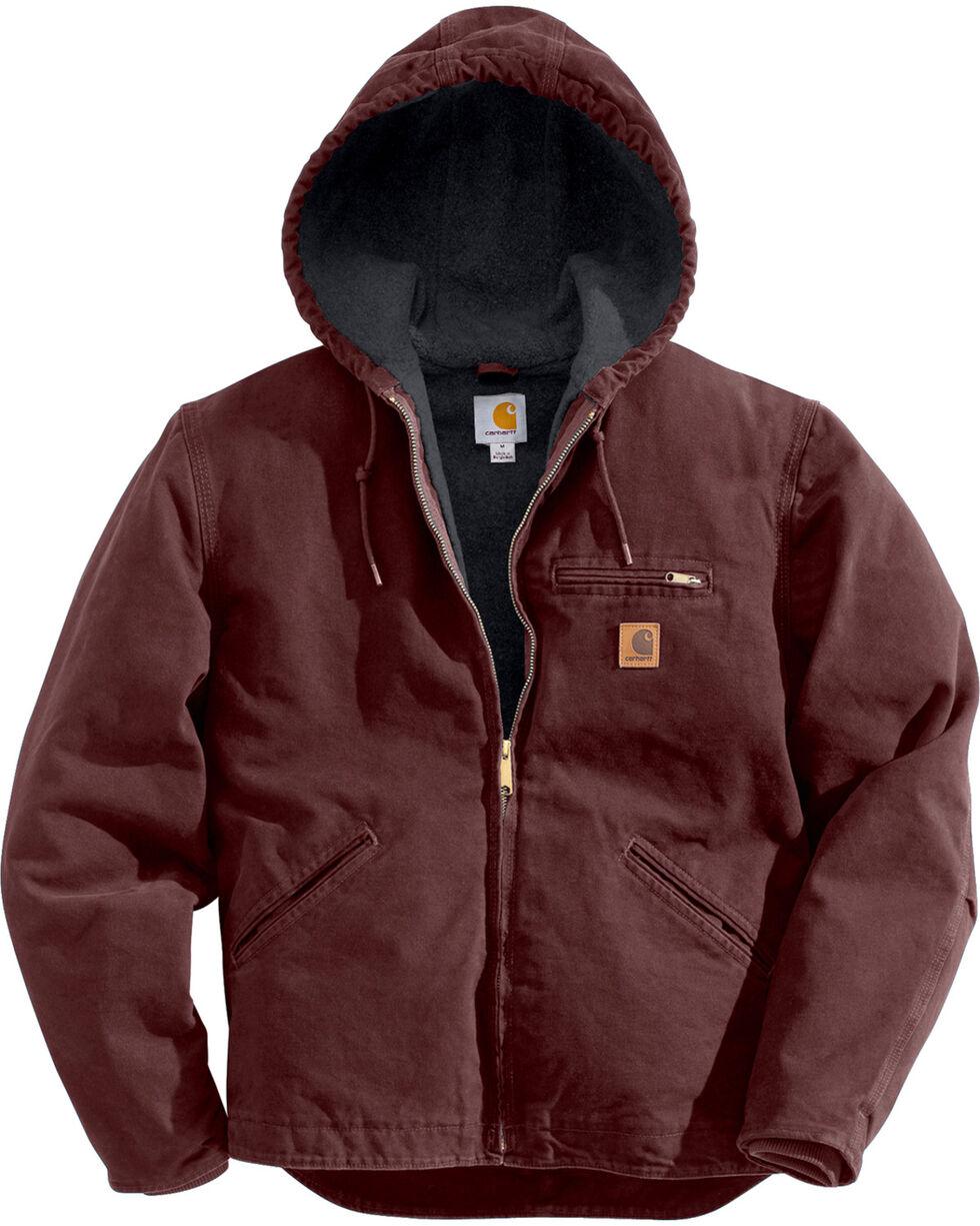 Carhartt Men's Black Cotton Duck Lined Jacket, Wine, hi-res